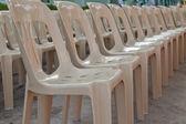 Plastic stoelen — Stockfoto