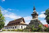 Old Architecture in Ancient Buddhist Temple , Luang Prabang, Lao — Stock Photo
