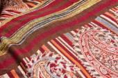 Lao handmade cotton and Silk scarf near plateau Bolaven, Laos — Stock Photo