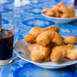 Deep-fried dough stick (patongkoh) with black coffee — Stock Photo #55093423