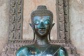 Old Buddha statues at Haw Phra Kaew, Vientiane, — Stock Photo