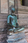 Old Buddha statues at Haw Phra Kaew, Vientiane, — Stock Photo