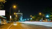 Patusay triumph arch in Vientiane Laos at night — Stock Photo