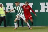 Ferencvaros vs. Dunaujvaros OTP Bank League football match — Stock Photo