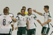 Hungary vs. Northern Ireland UEFA Euro 2016 qualifier football m — Stock Photo