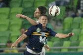 Ferencvaros vs. Puskas Akademia OTP Bank League football match — Stock Photo