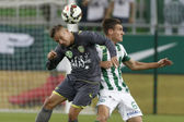 Ferencvaros vs. Haladas OTP Bank League football match — Stock Photo