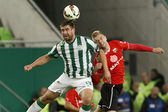 Ferencvaros vs. PMFC-MATIAS OTP Bank League football match — Stock Photo