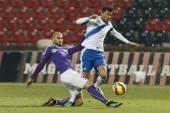 MTK vs. Ujpest OTP Bank League football match — Stock Photo