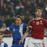 Постер, плакат: Hungary vs Finland UEFA Euro 2016 qualifier football match