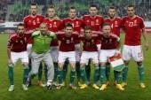 与芬兰欧足联欧元 2016 匈牙利限定符足球比赛 — 图库照片