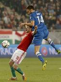 Hungary vs. Finland UEFA Euro 2016 qualifier football match — Stock Photo