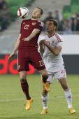 Hungary vs. Russia friendly football match — Stock Photo