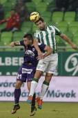 Ferencvaros vs. Kecskemet OTP Bank League football match — Stock Photo