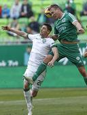 Ferencvaros vs. Gyori ETO OTP Bank League football match — Stock Photo