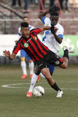 Honved vs. MTK OTP Bank League football match — Stock Photo