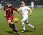 Honved vs. Ujpest OTP Bank League football match — Stock Photo