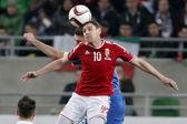 Hungary vs. Greece UEFA Euro 2016 qualifier football match — Stock Photo