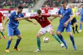 Hungary vs. Greece UEFA Euro 2016 qualifier football match — Stock Photo