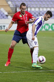 Ujpest vs. Videoton OTP Bank League football match — Stok fotoğraf