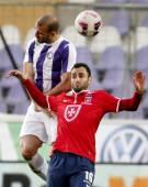 Ujpest vs. Videoton OTP Bank League football match — Stock Photo