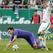 Постер, плакат: Ferencvaros vs Ujpest OTP Bank League football match