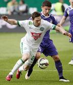 Ferencvaros vs. Ujpest OTP Bank League football match — Stock Photo