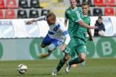 MTK vs. Gyor OTP Bank League football match — Stock Photo
