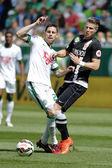 Ferencvaros vs. DVTK OTP Bank League football match — Stock Photo