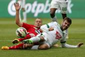 Ferencvaros vs. DVSC OTP Bank League football match — Stock Photo