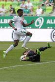 Ferencvaros vs. Videoton OTP Bank League football match — Stock Photo