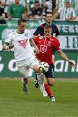 Ferencvaros vs. Maďarský klub Ujpest Otp Bank liga ragby — Stock fotografie