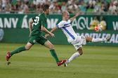 Ferencvaros vs. Zeljeznicar UEFA EL qualifier football match — Stock Photo