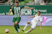 Ferencvaros vs. Bekescsaba OTP Bank League football match — Stock Photo