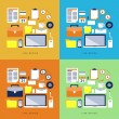 Vector New Deign Flat Icons Set about Office Items and Elements — Stock Vector #59191141