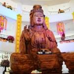Carving Wooden Bodhisattva Goddess Statue or Guan Yin — Stock Photo #68167899