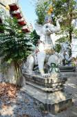 Carved and sculpture mythical creatures of Wat Ming Mueang Temple at Chiang Rai — Stock Photo