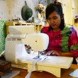 Thai Woman Sewing Machine in Night time — Stock Photo #68171785