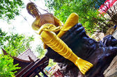 Gloden buda heykeli — Stok fotoğraf