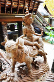 Traditional Thai style wood carving as 12 Zodiac — Stock Photo