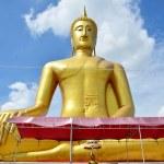 Golden Big Buddha statue image of Wat Bangchak Temple — Stock Photo #68852305