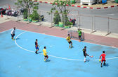 Thai men playing football or soccer — 图库照片