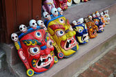 Mask tibet style at souvenir shop — Stock Photo