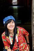 Thai women travel and portrait at Shwenandaw Monastery — Stock Photo