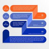 Modern Info-graphics banner. — Stock Vector