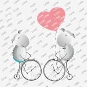 Cute valentine's sheep. — 图库矢量图片