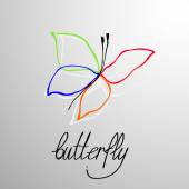 Abstract background with butterfly. — Stock Vector