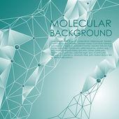 Molekuly a komunikační zázemí. — Stock vektor