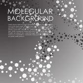 Fondo molécula y comunicación. — Vector de stock