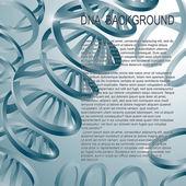 DNA molecular structure background. — Stock Vector